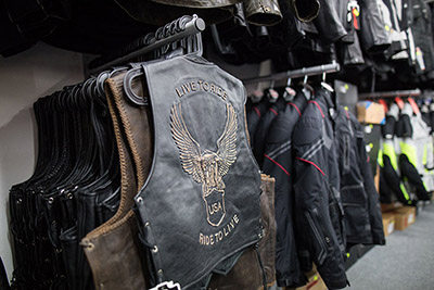 KMBIKERS motoshop kožené vesty